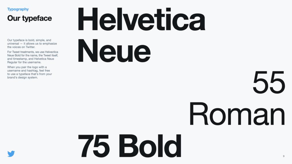 Twitter typeface.