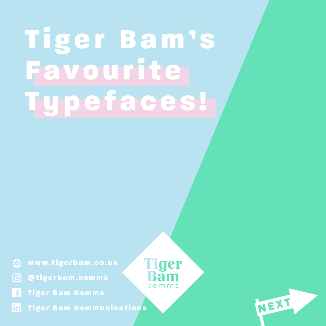 Tiger Bam's Favourite Typefaces!