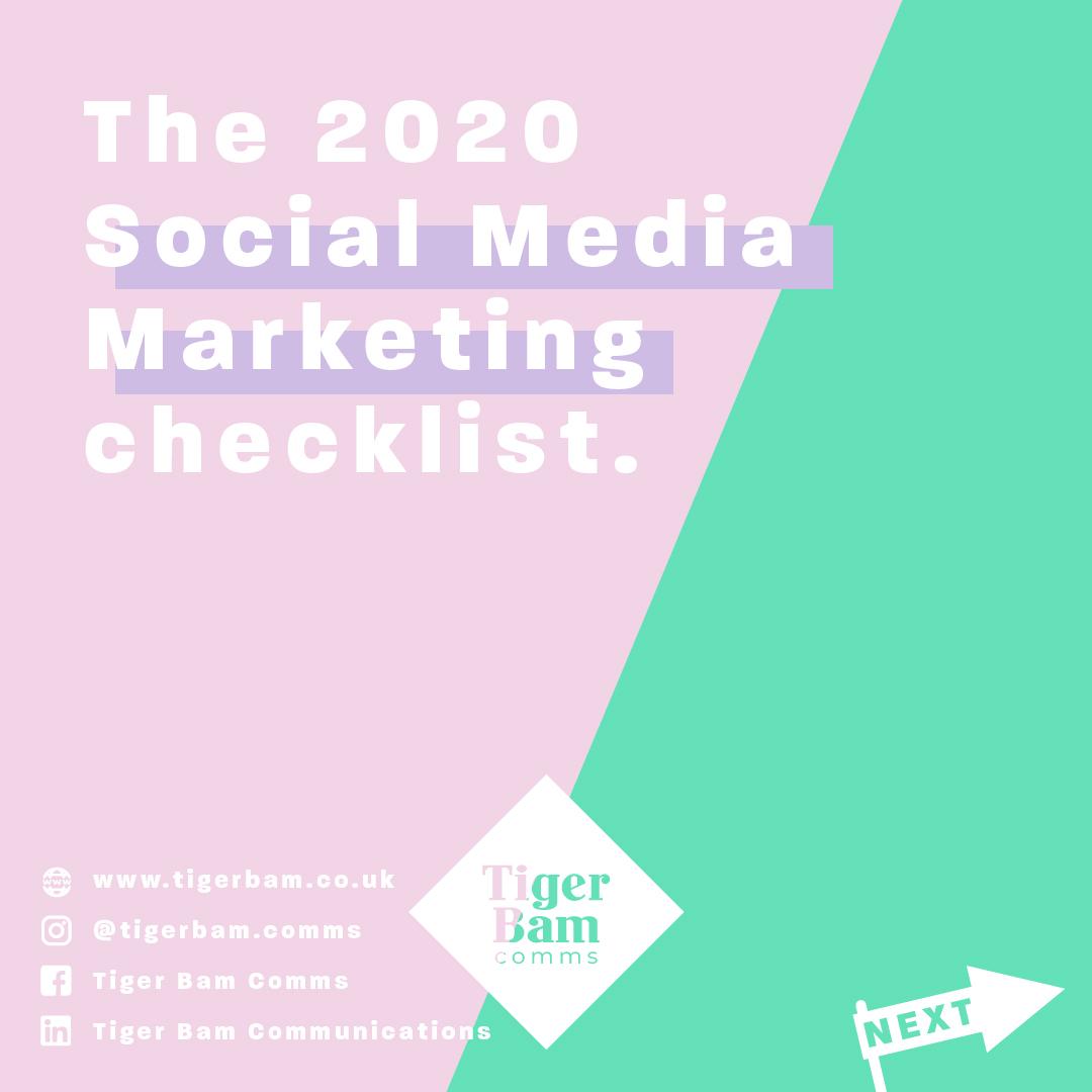 The 2020 Social Media Marketing checklist!